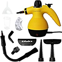Comforday Handheld Pressurized Steam Cleaner with 9-Piece Accessories, Chemical-Free Steam Cleaning Grease, Stains, Mold for Home, Auto, Patio, More
