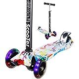EEDAN Scooter para niños – 3 ruedas barra en T con mango de altura ajustable con Max planeador Deluxe PU LED Ruedas de cubierta ancha para niños de 2 a 14 años (superior)