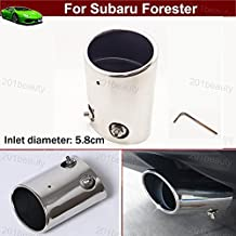 New 1pcs Stainless Steel Tailpipe Exhaust Muffler Tail Pipe Tip Custom Fit For Subaru Forester 2010 2011 2012 2013 2014 2015 2016 2017 2018