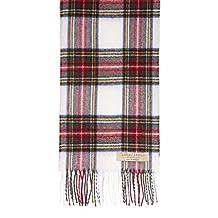 Brushed Wool Plaid Scarf Made in Scotland (Stewart Dress Modern)