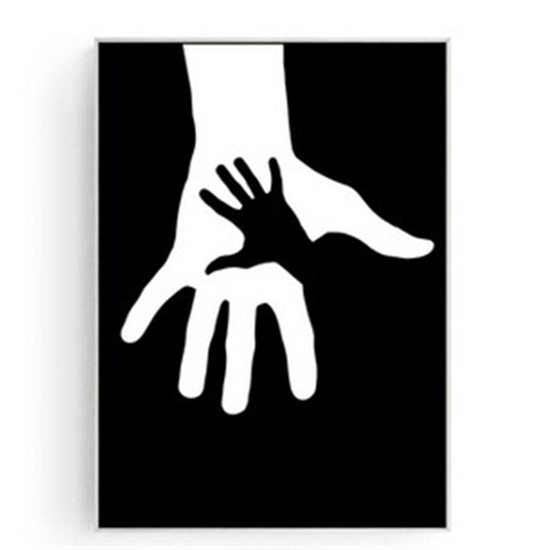 XIAPENGConcha Moderno Moderno decoración de la Sala de Estar Pintura Personalidad Creativa Dormitorio Pintura de Fondo Abstracto Blanco y Negro Arte Mural (43  63cm), c