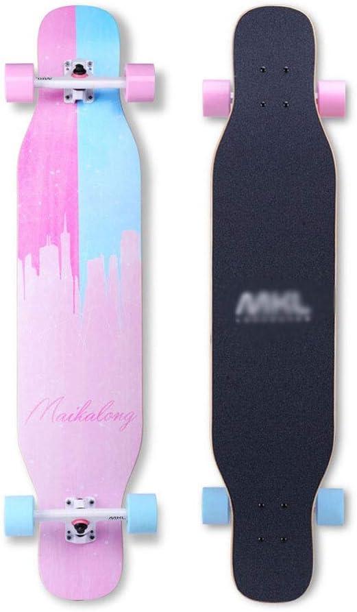 スケートボード プロのスケートボード4輪スケートボードロングボードスケートボード大人の十代の男の子と女の子のダンスボードプロのロングエディションダブルA旅行道路初心者クリスマスギフト (Color : A) A