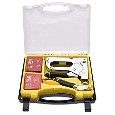 WOLFWILL 3 in 1 Heavy-Duty Staple Gun Kit with Remover Brad Nail Gun Bonus 3 Types Nail Set