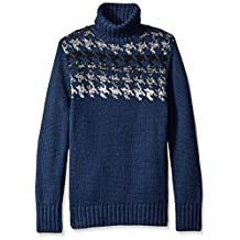 Nautica mens Engineered Houndstooth Turtleneck Sweater