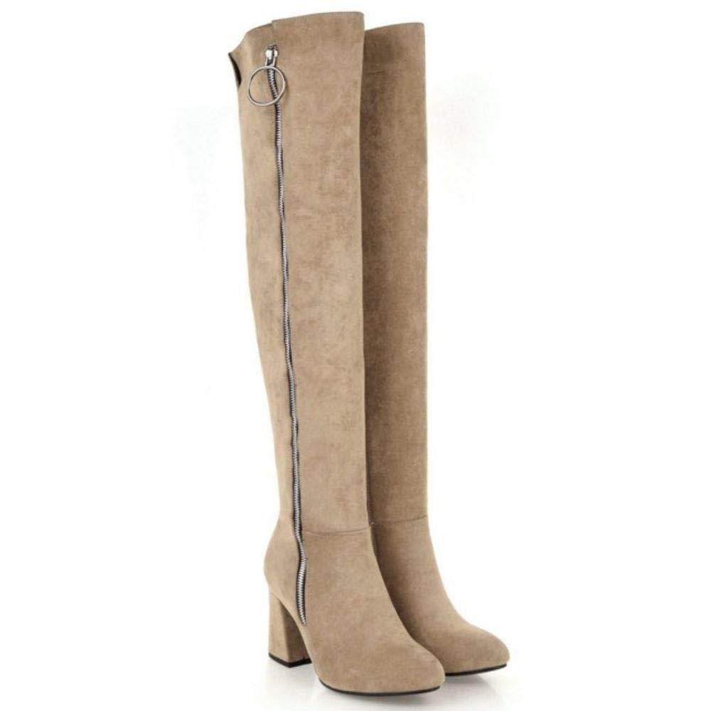 JOJONUNU Damen Damen Damen Chunky Heel Over Knee Stiefel 6bbe2d