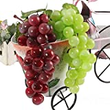 easyshop Bunch Lifelike Artificial Grapes Plastic Fake Vinifera Food Home Store Decor