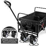 BEAU JARDIN Folding Wagon Cart 300 Pound Capacity