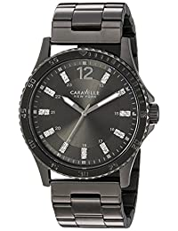 CARAVELLE NEW YORK Mens 45A138 Dress Grey Dial Watch