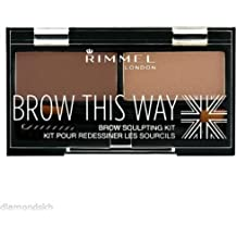 (3 Pack) RIMMEL LONDON Brow This Way Brow Sculpting Kit - Blonde