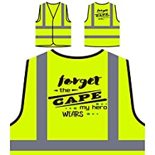 Forget The Cape My Hero Wears Kevlar Personalized Hi Visibility Yellow Safety Jacket Vest Waistcoat j797v