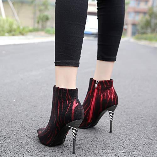 LBTSQ-Helix-Und Frauen-Stiefel Sexy Schön-Schuhe 10Cm Martin Stiefel Nägel High Heels Heels Heels Damenschuhe. 5b14d8