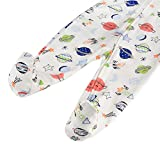 Baby Footed Pajamas Zipper with Mittens - 3 Packs