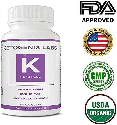 Keto Plus BHB - Weight Loss Keto Supplement - Best Keto Diet Pills to Burn Fat - Boost Energy Level - 60 Capsules per Bottle for Men and Women