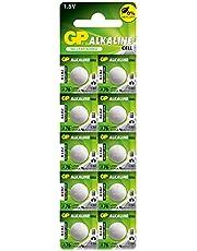 GP LR44 AG13 SR44SW A7a6 GP76A 357 Alkaline Button Battery (10 Pieces)