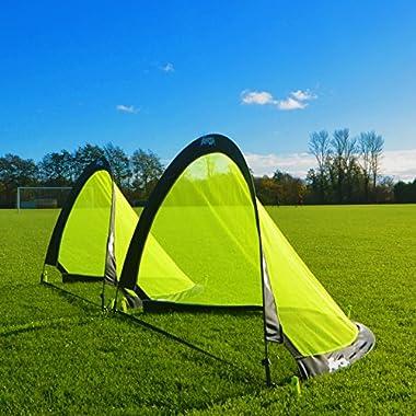 Forza Flash Pop-Up Soccer Goals, 4ft [Pair]