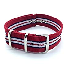 G10 NATO MOD NYLON WATCH STRAP, Choice of Styles & Sizes - Presented with a FREE Luxurious AccessoriesBySej ® TM Gift Pouch/Bag
