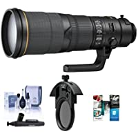 Nikon 500mm f/4E AF-S NIKKOR FL ED VR Lens with U.S.A. Warranty - Bundle With Nikon C-PL405 40.5mm Slip-in CPL Filter, Cleaning Kit, Lenspen Lens Cleaner, Software Package