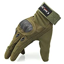 OMGAI Men's Full Finger Military Tactical Gloves of Hard Knuckle for Airsoft Army Paintball Motorcycle Outdoor Sports