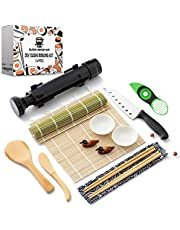 Sushi Ninja - Sushi Making Kit w/ Bazooka Sushi Roller   Avocado Slicer   Sushi Mat   Bamboo Rolling Mat   Sushi Knife   Sushi Eating Utensils   2x Soya Sauce Dish