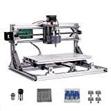 DIY CNC Router Kits 3018 GRBL 3 Axis Control Wood Carving Milling Engraving Machine with 5mm Extension Rod + ER11 + 20PCS CNC Router Bits + 4 Sets CNC Plates