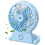 NEWSTYLE Table Fan with Spray Mist - Portable Mini USB Rechargeable Water Misting Desk Fan Personal Cooling Humidifier for Beauty, Home, Office and Travel
