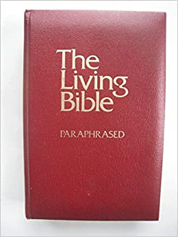 The Living Bible Paraphrased 1971 Cushion Soft Cover Red God Amazon Com Books Audio