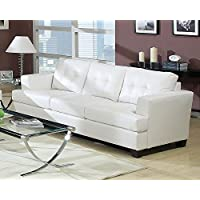 ACME Platinum White Sofa