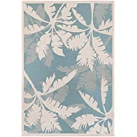 Couristan Monaco Coastal Floral Indoor/Outdoor Area Rug, 510 x 92, Ivory/Turquoise