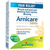 Boiron Arnicare Tablets, 60 Tablets, Homeopathic Medicine for Muscle and Joint Pain Relief, Swelling from injuries, Bruise & Brusing, from Natural Sourced Plants Including Arnica Montana