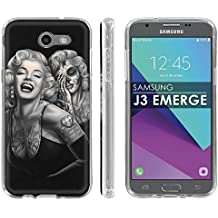 """Samsung Galaxy J3 Emerge [2017] Soft Mold [Mobiflare] [Clear] Thin Gel Protect Cover - [Day of the Dead] for Galaxy [2017] [J3 Emerge] [5"""" Screen]"""