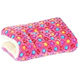 ZHIY Winter Pet Blanket Puppy Dog Cat Sleep Cushion Soft Flannel Sleep Mat Pad with Cute Stars Washable Size S Pink