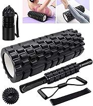Foam Rollers, KilYn 6 in 1 Foam Roller Set Deep Tissue Massage Roller High Density Foam Roller Kits