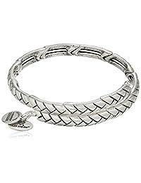 Alex and Ani Nature's Weave Wrap Rafaelian Bangle Bracelet