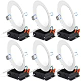 "DELight 9W 6"" LED Recessed Lighting 10 Pack Ultra-thin 6000-6500K Round Ceiling Panel Light 60W Equivalent - - Amazon.com"