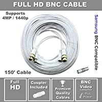 STS-FHDC150 Premium HD 150 BNC Cable w Coupler Compatible with Samsung SDH-C85100, SDC-89440BC