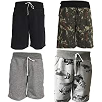 KIT 4 Bermudas Plus Size Moletom Masculino