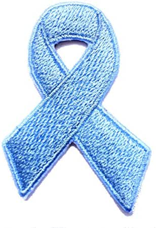Prostate Cancer Awareness Ribbon Embroidered Sew/Iron On Patch 2.5