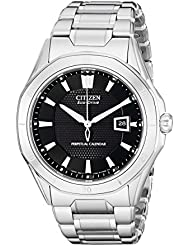 Citizen Mens Eco-Drive Signature Perpetual Calendar Watch with Date, BL1270-58E
