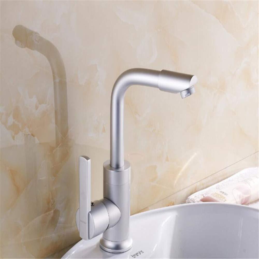 Basin Mixer Tap Space Aluminum Faucet Basin Faucet 360° Up and Down Free redation