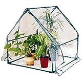 CRZJ Túnel de jardín Tienda de cobertizo para Plantas de Invernadero, Claro Jardinería Invierno Balcón Cobertizo para Flores, 90 * 90 * 92 cm