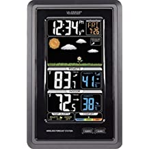 La Crosse Technology Vertical Wireless Color Forecast Station with Temperature Alerts