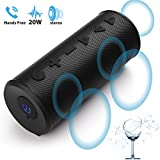 Portable Wireless Bluetooth Speaker for i Phone Xs Max Xr X 8 7 6 Plus iPad Samsung Android, Big Magicbox 20W Loud Stereo Speaker with Bass Sound, Build-in Mic, 12H Playtime for Car Outdoor Party