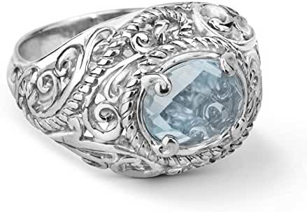 Carolyn Pollack Sterling Silver Blue Topaz Bold Ring