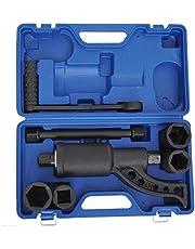 HOMCOM 7pcs Torque Multiplier Socket Wrench Set Lugnut 41 38 33 21 Sockets 4800N/M 1:58 Labor Saving