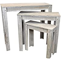 The Lucky Clover Trading Classic Nesting Store Display Tables, Smokey Grey
