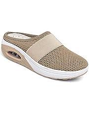 Tophoopp Dames Slippers, Diabetische wandelschoenen Orthopedische Slip-On Schoenen Dames Slippers Luchtkussen Mesh Verpleegkundige Schoenen Platform Schoenen