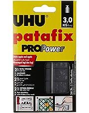 UHU UH40790 21-Pieces Patafix Propower Removable and Reusable Glue Pads