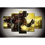 Dark souls game print poster canvas decoration 5 pieces
