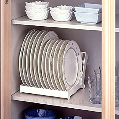 Kitchen Dish Plate Drying Foldable Rack Organizer Drainer Plastic Storage Holder