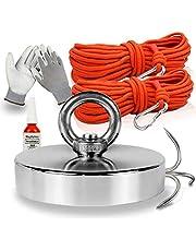 Magfishion® Vismagneet Set - 180 KG - Neodymium Magneet - 2x Touw - Borgmiddel - Handschoenen - Dreghaak - Magneetvissen
